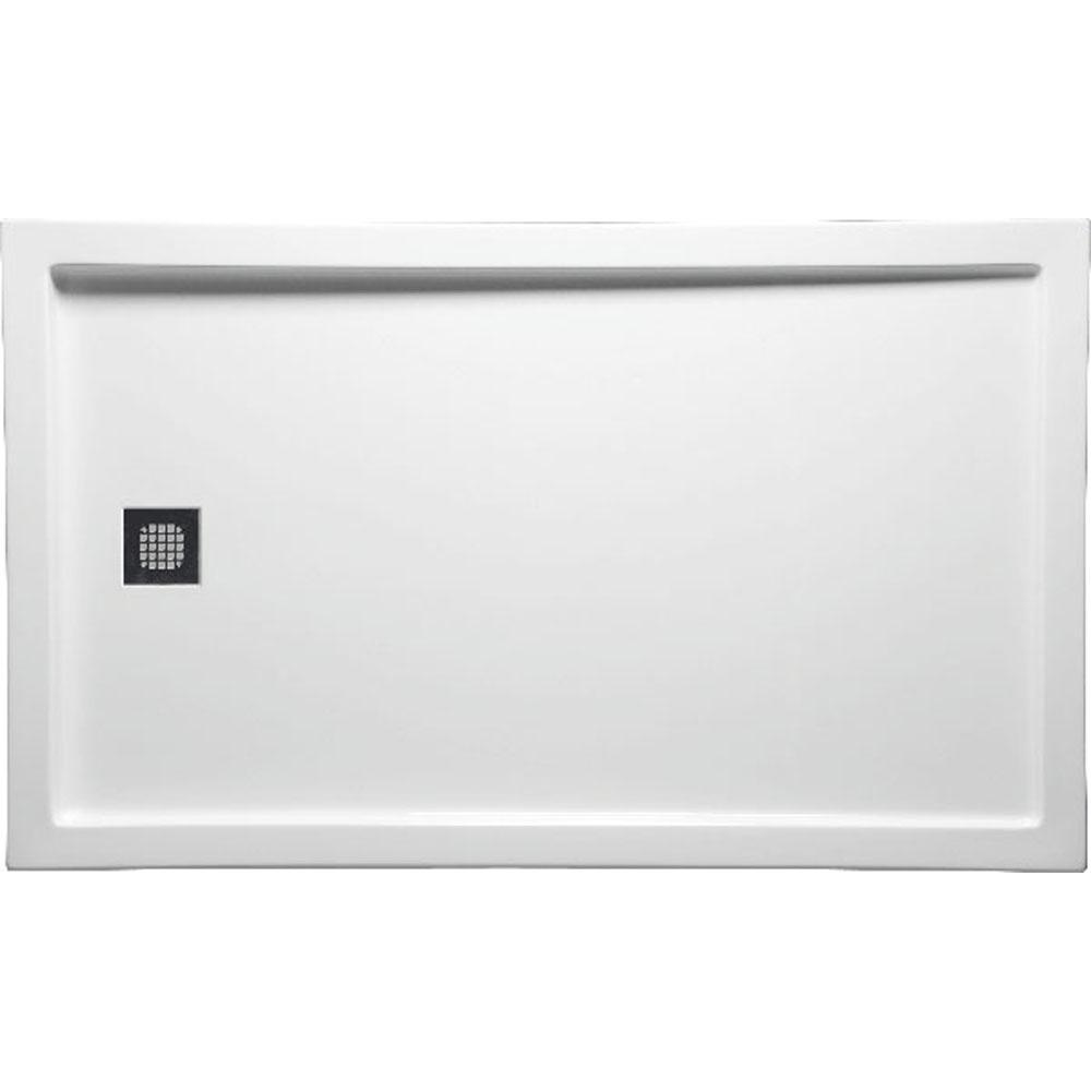 1 045 00 C6036el Wh Brand Americh 60 X 36 End Drain Left D Standard Color Shower Bases