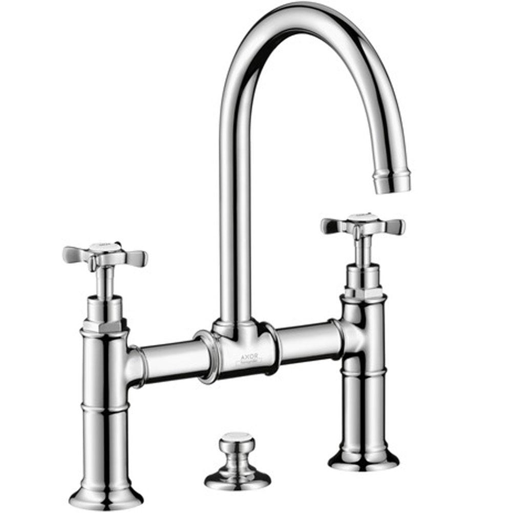 Axor 16510001 Montreux Widespread Faucet With Cross Handles Bridge Model 1 2 Gpm