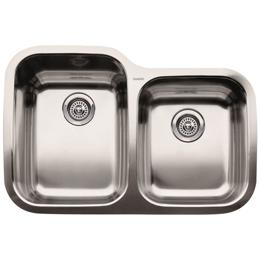 Blanco   440236   SUPREME Stainless Steel 1 3/4 Bowl 10u0027u0027 Deep Kitchen Sink