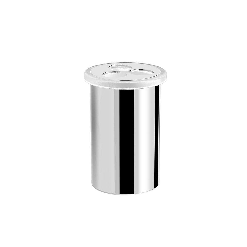 Jaclo 4870-TH-PCH Astor Toothbrush and Tumbler Holder Polished Chrome