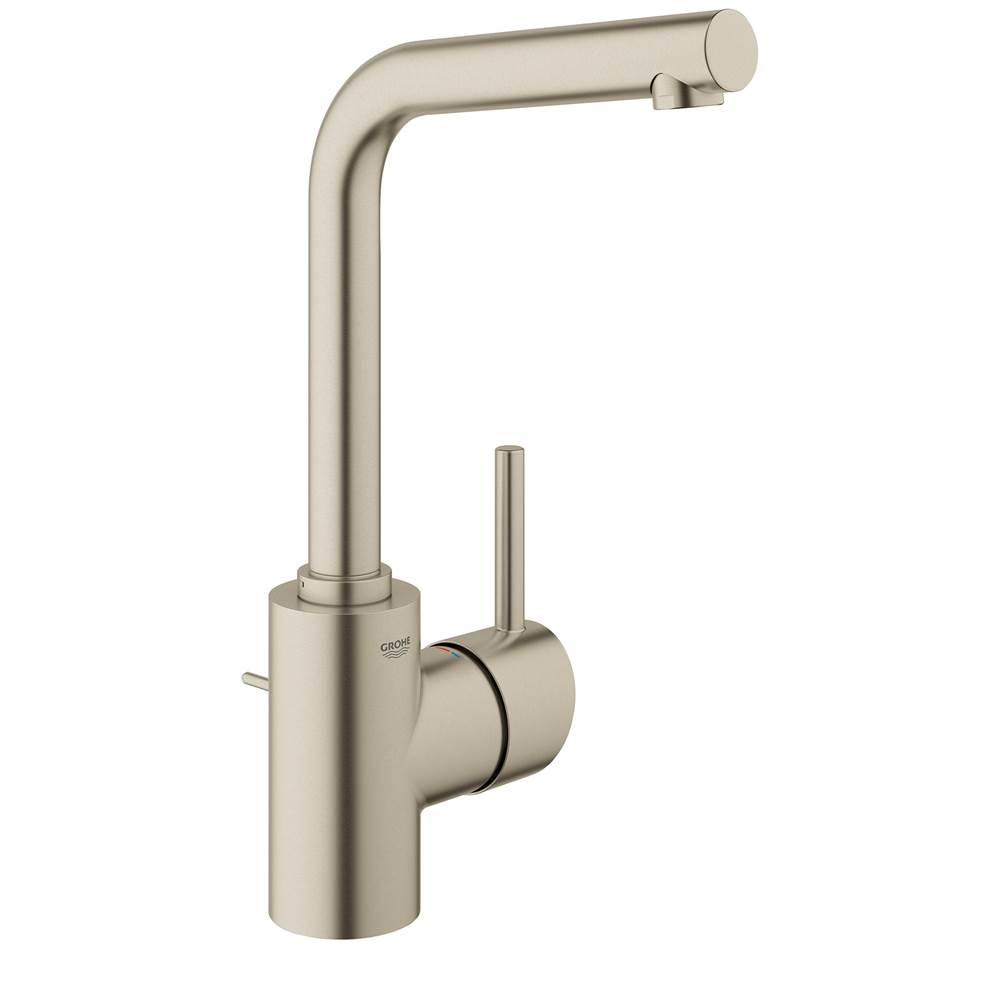 Grohe Bathroom Sink Faucets Concetto Nickel Tones Brushed Nickel ...