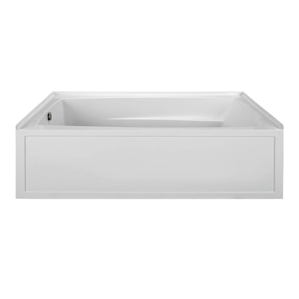 M T I Baths Tubs Soaking Tubs Three Wall Alcove Mti Basics White ...