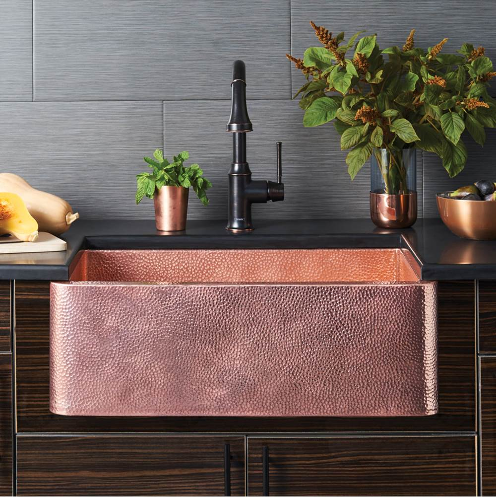 farmhouse 30 kitchen sink in polished copper