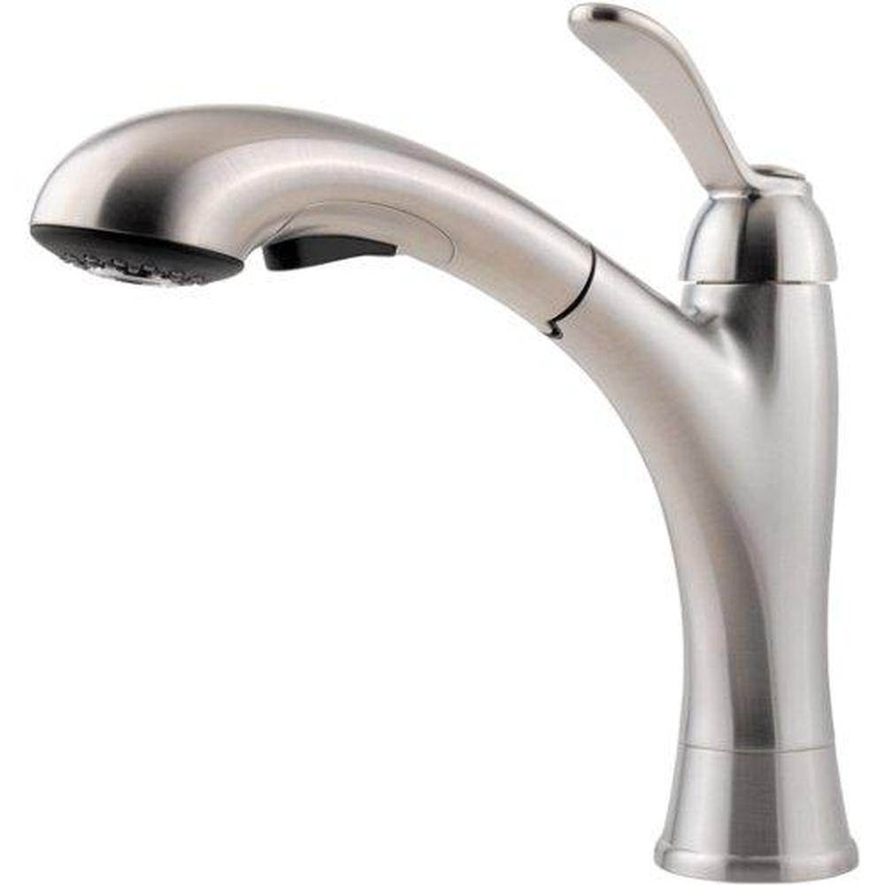 Pfister   GT534 CMS   GT534 CMS   Stainless Steel   Single Handle Pull Out  Kitchen Faucet