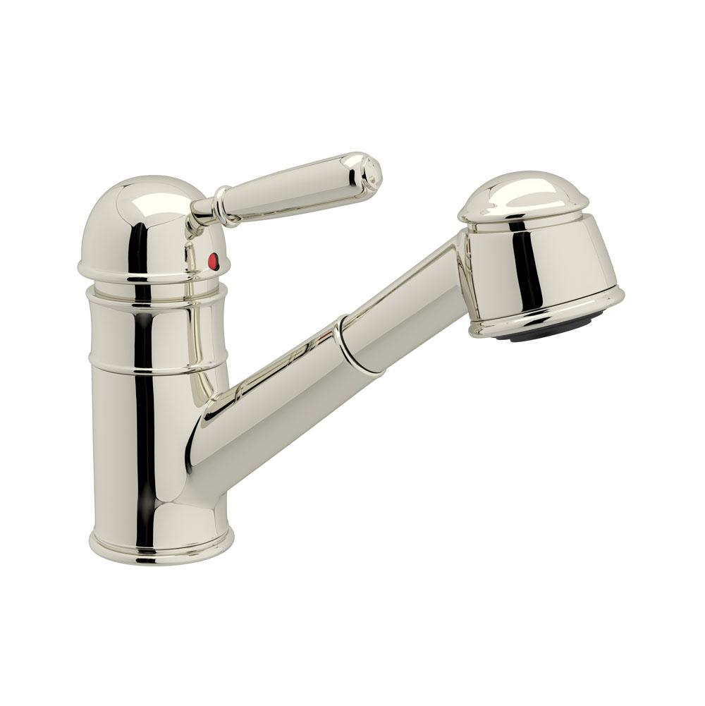 rohl r77v3spn rohl single metal lever country kitchen faucet - Rohl Kitchen Faucets